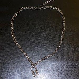 brandy melville lock necklace